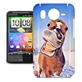 Funny Face Horse Phone Hard Shell Case for HTC One M7 Mini Desire Evo & more - HTC Desire HD