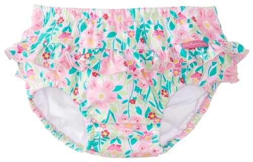 Jojo Maman Bebe Baby-Girls Newborn Pretty Swim Diaper, Tropical, 6-12 Months front-866019