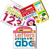 Roger Priddy Roger Priddy Wipe Clean Write and Learn 3 Books Collection Pack Set RRP: £17.97 (Learn to Write Your Letters, Wipe Clean - Numbers, Wipe Clean Phonics)
