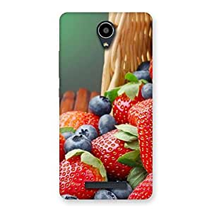 Stylish Delicious Straberry Multicolor Back Case Cover for Redmi Note 2
