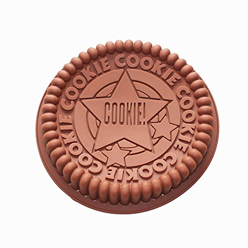 X-Haibei Giant Sandwich Oreo Cookie Cake Pan 7.5inch Rock Star Baking Silicone Mold (Oreo Cookie Pan compare prices)
