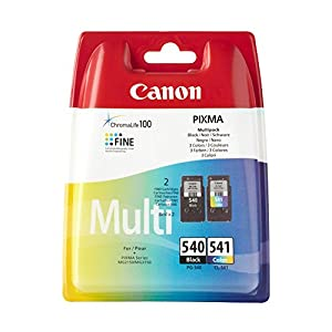 New sealed Canon PG540 Black & CL541 Colour Printer Ink Cartridge for Canon PIXMA MG2150, MG2250, MG3150, MG3250, MG4150, MG4250, MX375, MX435, MX515 & 10x FREE HP Advanced Glossy Photo Paper