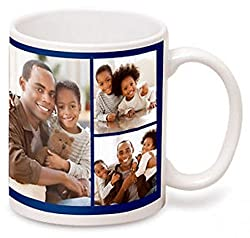 Personalized Polymer UNBREAKABLE White Photo Mug, Customize with Your Photos & Text