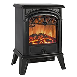 Best Choice Products Free Standing Electric 1500W Fireplace Heater Fire Stove Flame Wood Log Portable