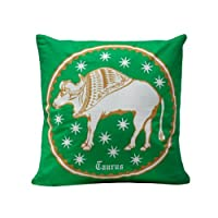 "The Bombay Store Cotton Cushion Cover -Taurus (Set Of 1pc) L 16"" H 16"""
