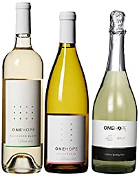 ONEHOPE California White & Sparkling III Wine Mixed Pack, 3 x 750 mL