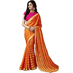 Shoponbit Beautiful Pure Viscose With Embroidered Designer Saree