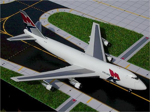1: 400 ジェミニジェット MK Air ボーイング 747-200F (並行輸入)
