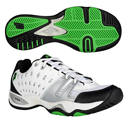 Prince T22 Mens Tennis Shoes, Color- White/Silver, Size- 7 UK