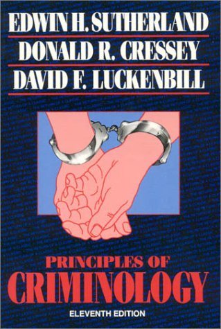 Principles of Criminology (The Reynolds Series in Sociology)