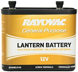Rayovac 926 Lantern Battery, 12 Volt, General Purpose