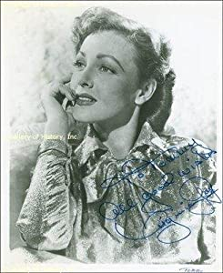 Virginia Grey - Inscribed Photograph Signed - Autographed College Photos by Sports+Memorabilia