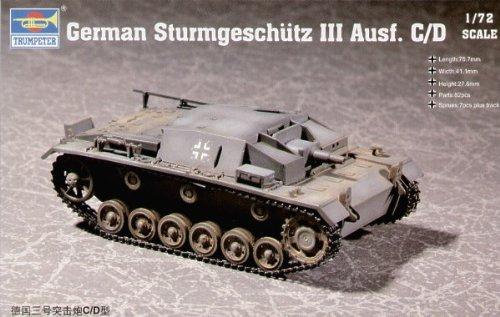 Trumpeter 07257 StuG III Ausf.C/D 1:72 Plastic Kit