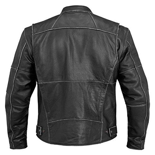 River Road Rambler Vintage Mens Black Leather Jacket 2