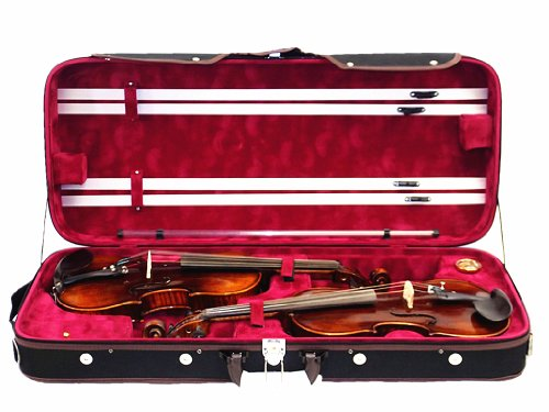 DVC-950RD Pro Wooden 4/4 Double Violin Case
