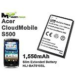 Mugen Power - Acer Liquid CloudMobile S500 1550mAh Slim Extended Battery