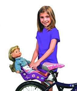 "Ride Along Dolly Doll Bicycle Seat ""Ride Along Dolly"" Bike Seat with Decorate Yourself Decals (Fits Americ"