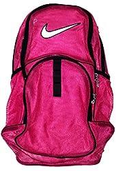 Nike Brasilia 6 Mesh Backpack-Pink