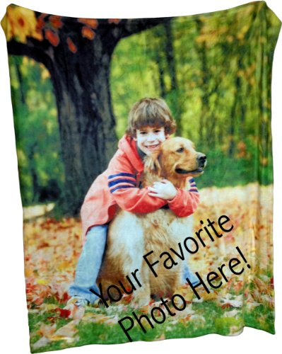 Coral Fleece Throw Photo Blanket - Put Your Photo on a Coral Plush and Soft Blanket - 50 Inch By 60inch (Personalized Throw Blankets compare prices)