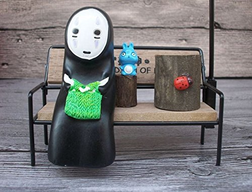 1pcs/Anime Spirited Away No Face Man LED Night Light Doll Resin with chair type A by Blue Elep