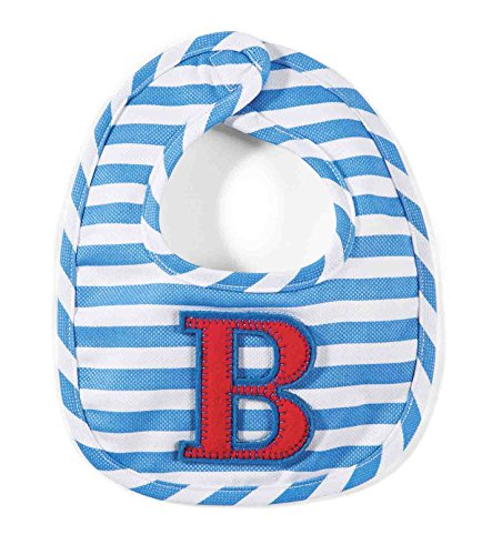 Mud Pie Baby-Boys Newborn B Initial Boy Bib, Blue, One Size