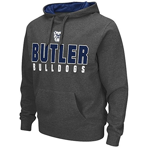 Mens NCAA Butler Bulldogs Pull-over Hoodie (Heather Charcoal) - M (Butler Bulldogs Sweatshirt compare prices)
