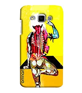 Omnam Cartoon Painted Back Pose Man Printed Designer Back Case Samsung Galaxy J3
