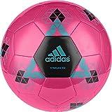 adidas Performance Starlancer V Soccer Ball, Shock Pink/Solar Lime Green/Shock Blue, 5