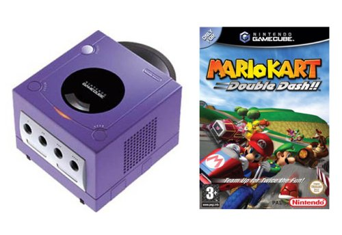 Purple GameCube Console  &  Mario Kart: Double Dash Pak
