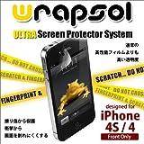 Wrapsol (ラプソル) 【高耐久性iPhone保護用透明クリアフィルム】 ULTRA iPhone4/4S Front専用フィルム UPHAP004SO