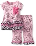 Vitamins Baby-Girls Newborn Cheetah and Floral 2 Piece Pant Set