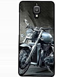 Casotec Motorcycle Design 2D Hard Back Case Cover for Xiaomi Mi 4 - Black