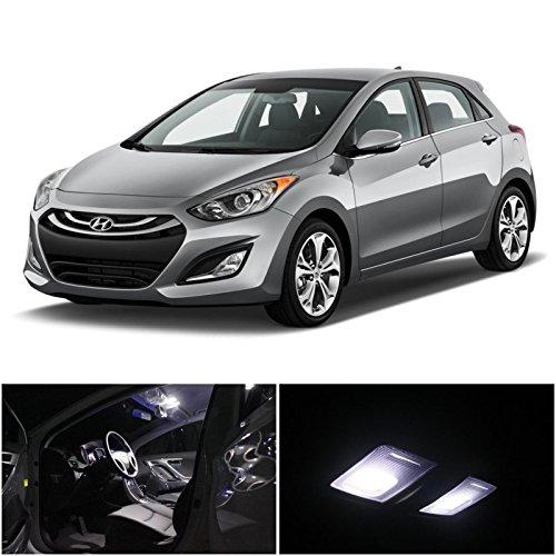 11Pcs Xenonwhite Led Interior Light Package For Hyundai Elantra Gt I30 2013-2015