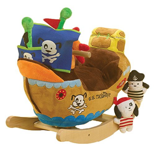 Rockabye Ahoy Doggie Pirate Ship Rocker - 1
