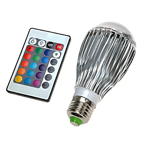 Iwish(Tm)110V 9W E27 16 Colors Led Rgb Magic Light Bulb Lamp With 24 Keys Ir Wireless Remote Control