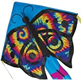 "Large Easy Flyer Kite - Tye Dye Butterfly (46"" X 90"") with 300 Ft 30lb Test Kite String and Winder"