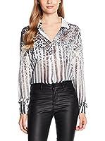 Guess Camisa Mujer (Blanco / Marrón)