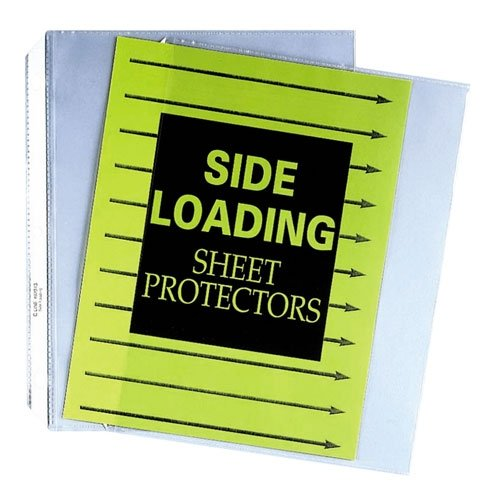 Side-loading clear heavy-gauge poly sheet protectors, sealed on 3 sides, 50/box - Buy Side-loading clear heavy-gauge poly sheet protectors, sealed on 3 sides, 50/box - Purchase Side-loading clear heavy-gauge poly sheet protectors, sealed on 3 sides, 50/box (C-Line, Office Products, Categories, Office & School Supplies, Binders & Binding Systems, Binder Accessories, Sheet Protectors Card & Photo Sleeves, Sheet Protectors)