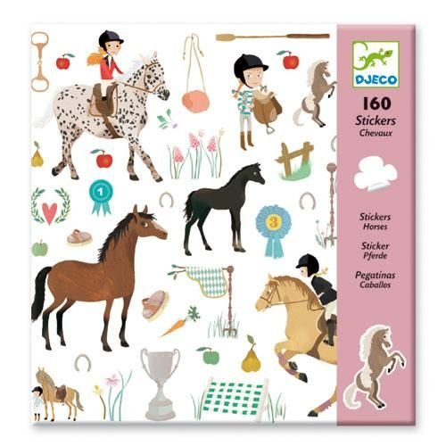 Djeco Sticker Set (160 Stickers), Horses