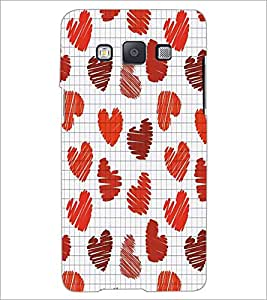 PrintDhaba Heart Pattern D-5607 Back Case Cover for SAMSUNG GALAXY E5 (Multi-Coloured)
