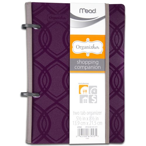 Mead Organizher Shopping Companion, 5.5 x 8.5 Inches, Purple (67453) Review