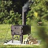 Kotula's Outdoor Wood-Burning Stove (Color: Black)