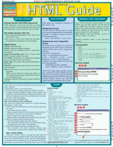Html Guide (Quickstudy: Computer)