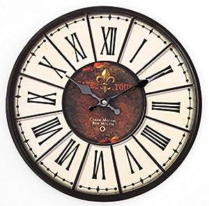 Fbh022165 European Living Room Wrought Iron Mute Wall Clock Mediterranean Retro