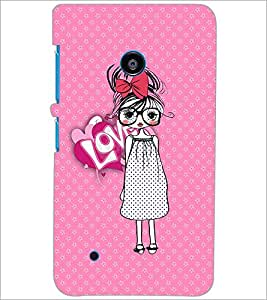 PrintDhaba Specy Girl D-3986 Back Case Cover for NOKIA LUMIA 530 (Multi-Coloured)