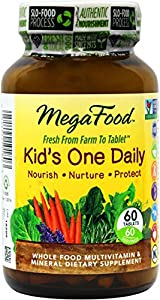 MegaFood Kids One Daily Tablets, 60 Count (Premium Packaging)
