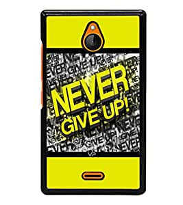 printtech Gym Quotes Back Case Cover for Nokia XL