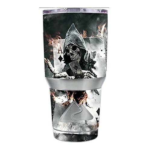 skin-decal-vinyl-wrap-for-ozark-trail-30-oz-tumbler-cup-6-piece-kit-ace-diamonds-grim-reeper-skull