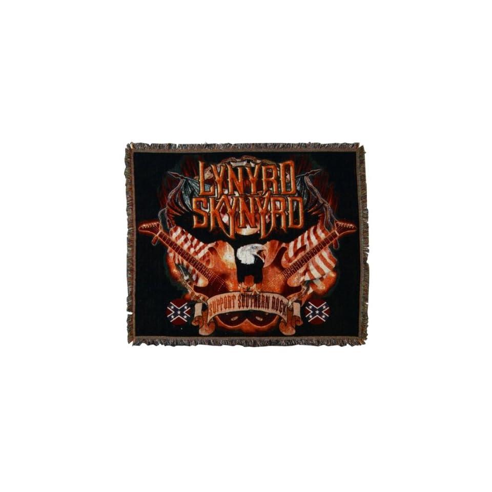 Support Southern Rock Throw Rug Lynyrd Skynyrd