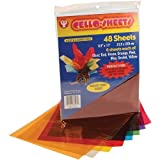 "Pack of (48) 8-1/2"" x 11"" Transparent Cello Sheets"